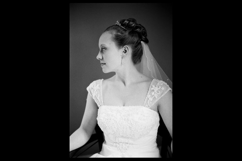 Candid portrait of the bride