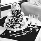 Detail image of a wedding cake