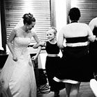 The Bride dances with the flower girl