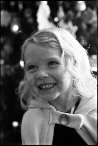 Portrait of a little girl on Christmas