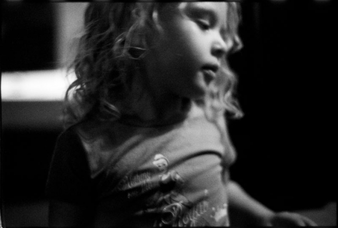 Portrait of a little girl with dramatic lighting