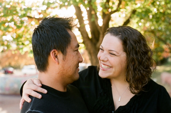 Portrait of a couple laughing