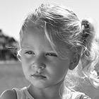 Outdoor portrait of a two year old girl