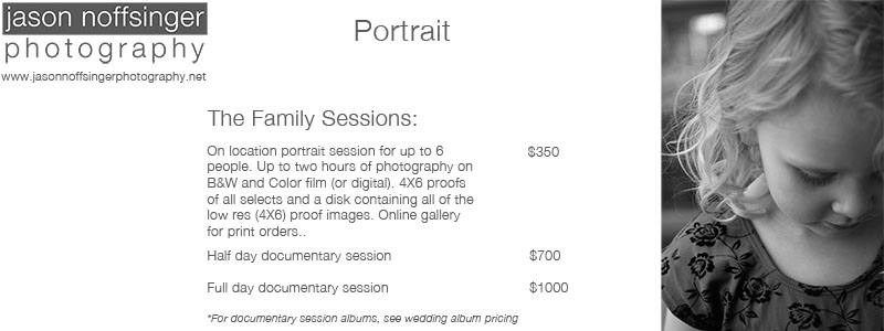 Family Portrait Pricing