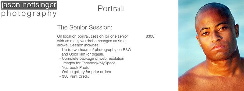 Senior Portrait Pricing
