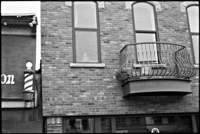 Building exterior and balcony