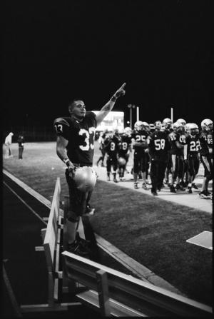 Celebrating a touchdown