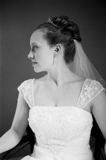 Candid portrait of the bride