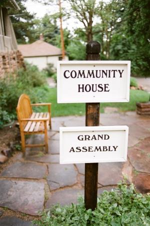 Sign outside of the Chautauqua Community House