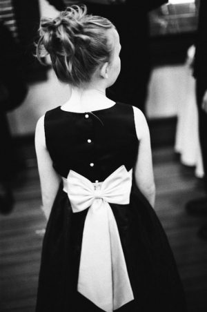 Rear view of the flower girl's dress