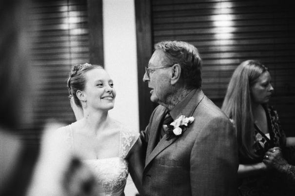 The Bride talks to her grandfather