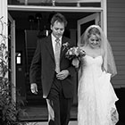 Father and Bride walk down the stairs