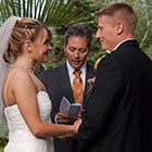 The Bride and Groom exchange vows