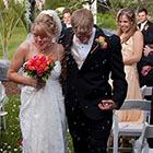 Bride, Groom & Flying Rice