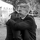 Groom and Groomsman Hug