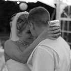 Bride and Groom have a quiet moment